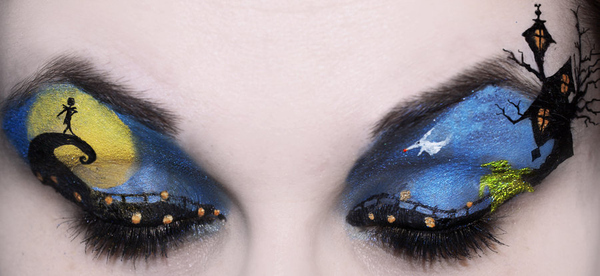 Nightmare Before Christmas Eyeshadow Art - Survive Teaching