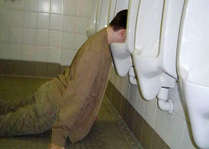 If you're passed out in the toilet, you may be working too hard.
