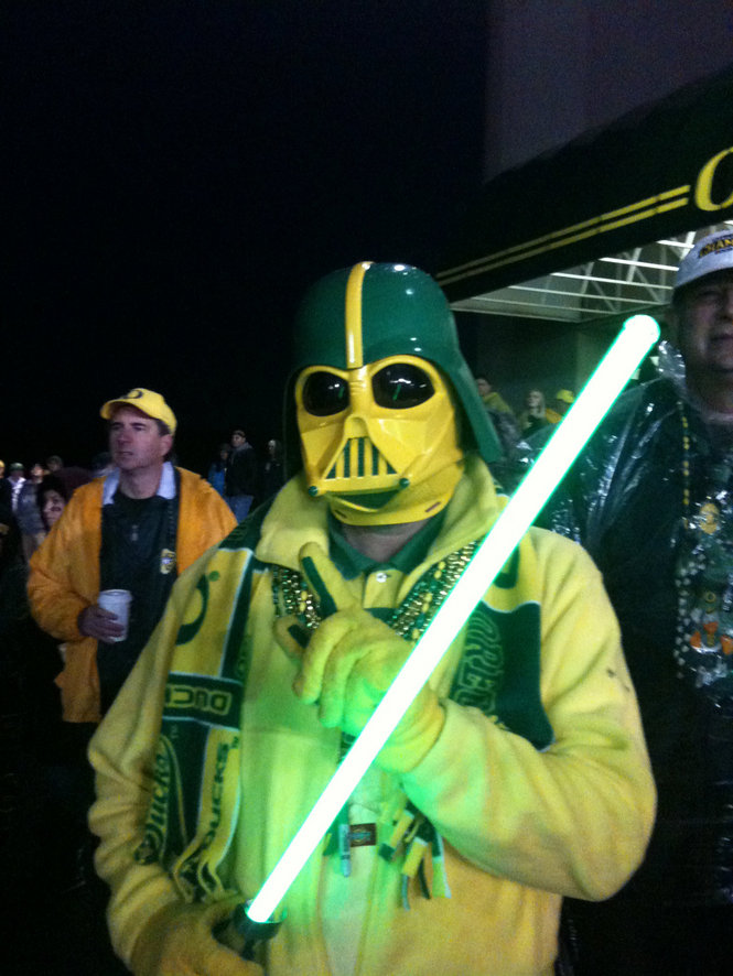 """""""It's more of a duty than a hobby. A blinding, obsessive need to be Darth Duck. For the team, of course."""""""