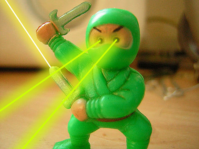"When people ask me what I want to be when I grow up, I no longer say ""Laser Ninja."""